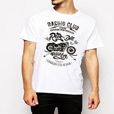 Biker t-shirt Motorcycle Tattoo Vintage Street Racing Sports Car Chopper retro
