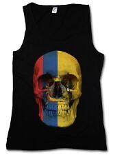 Classic Ecuador Skull Flag donna Tank Top Bandiera Teschio Bandiera Banner
