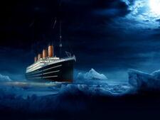 RMS Titanic Night Iceberg Amazing Painting Art Giant Wall Print POSTER