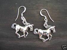 HORSE Dangle Earrings STERLING silver post Pony Mustang