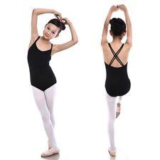Signore/ragazze Doppio Cinturino Crossover Canottiera Balletto Danza Calzamaglia. 1st CLASSE