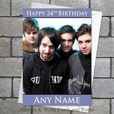 Panic at the Disco birthday card. Personalised, plus envelope. Panic!