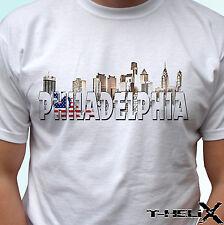 Philadelphia - white t shirt top USA flag design - mens womens kids & baby
