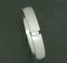 Titanium Titan Ring Spannring Damen schmaler Fingerring Silber Zirkonias Brilli