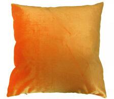Mo96a Lt.Orange Plain Shimmer Velvet Style Cushion Cover/Pillow Case Custom Size