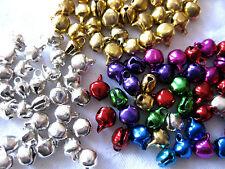 80 kleine Glöckchen silber, gold und multi, ca.8 x 10mm  A20