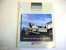 Cedarapids Grayhound 400 Series Hot Mix Pavers Brochure