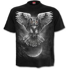 Spiral Direct Wings of Wisdom Camiseta, Halloween/Calavera/Tatuaje/ Búho /