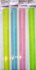 """Blue, Pink, Green or Lime Green Transparent Shatter Resistant 30cm (12"""") Ruler"""
