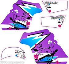 Girls Yamaha PW50 Graphics Decal Sticker Kit PW 50 Purple Flower Princess