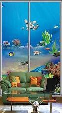 3D Pesce Fondali Parete Murale Foto Carta da parati immagine sfondo muro stampa