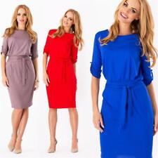 Robe avec cordon mini robe en 10 couleurs & 5 tailles élégant, 8986