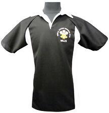 Le Pays de Galles Triple Crown gagnants 2012 Style Rugby Shirt New S M L XL XXL 3XL Noir