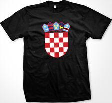 Republic Of Croatia Coat Of Arms Checkerboard Crest Emblem Croatian Mens T-Shirt