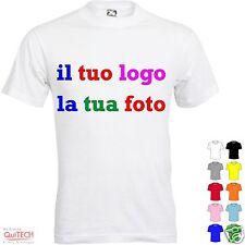 T-Shirt maglietta personalizzata Bianca/Colorata - logo immagine foto scritta