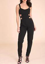 Womens Ladies STRAPPY CUTOUT Skinny Leg JUMPSUIT Playsuit Lot R44