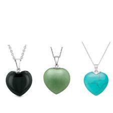 Wholesale Natural Heart-Shaped Reiki Chakra Pendant Heart Necklace - 20MM Hearts