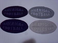 """TOPPA PATCH RICAMO TESS. """"AMERICAN FOOTBALL"""" TERMO O DA CUCIRE DIMENS. 6X3,2 CM."""
