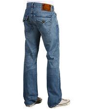 NEW True Religion Brand Jeans Men 30x34 Ricky Snake Eyes Straight Leg Blue Denim