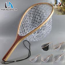 Fliegenfischen Kescher Angelkescher Fischernetz Klar Gummi Forellenkescher Netz