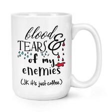 Sangre y lágrimas de mis enemigos café 15 OZ (approx. 425.24 g) Mighty Taza Taza-Divertido Broma Big Grande