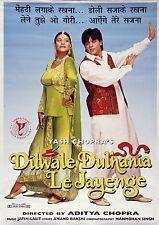 Impresión De Arte-película Bollywood Poster-Dilwale Dulhania Le Jayenge-A4, A3, A2