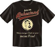 T-Shirt  Rente - bin im Ruhestand mein Chef ist mein Frau - Grösse  S - XXXL