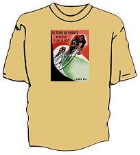 Retro Tour de France poster art cycling t-shirt