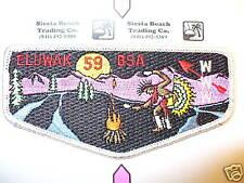 OA Eluwak Lodge 59,S-12,1990s Indian Dancer Flap,Long Rivers Council,Hartford,CT