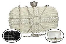 bcc3870a5d BORSETTA clutch da CERIMONIA Passion De Femme - piccola BORSA DONNA con  perle