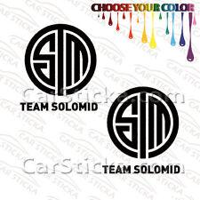 "2 of 5"" Team Solomid TSM /A esports car die cut bumper stickers decals window"