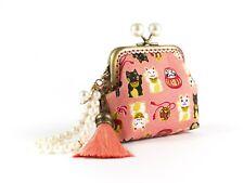 Handmade Maneki Neko (Lucky Cat) Japanese coin purse collectable #0162