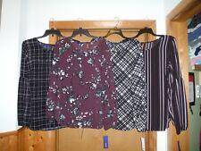 Long Sleeve Blouses size XL APT.9 Multi Color Plaid ,Floral,Stripe 96% polyester