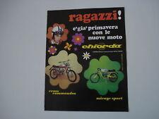 advertising Pubblicità 1971 CHIORDA COMMANDOS/MIRAGE