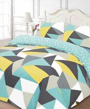 Multicolour Duvet Cover Shapes Geometric Reversible Quilt Cover Set Bedding