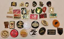 Vintage hat  pin , lapel pin , tie tac , Slogans,Playboy, Skull,Misc - New