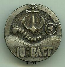 Insigne artillerie coloniale , 10 RACT.  ( estempe )