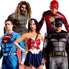 JUSTICE LEAGUE Adulti Costume DC Comic con Libro Giorno Costume Da Supereroe Nuovo