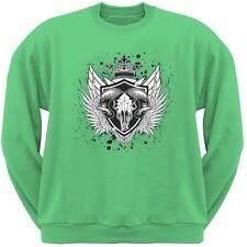 Ram Skull Irish Green Adult Sweatshirt