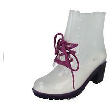 OFFERTA SPOT ON VIOLA TRASPARENTI 6.3cm tacco spesso moda stivali di gomma
