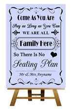 Lilac No Seating Plan Personalised Wedding Sign / Poster