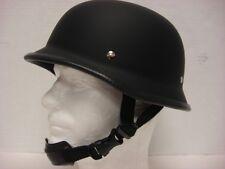 XL Low Profile Motorcycle Biker German Novelty Helmet Chopper Softail Flat Black