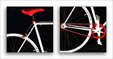 Bike In Black White And Red No 1 & 2 Fine Art Prints by Ben and Raisa Gertsberg