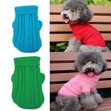 Dog Pet Winter Clothe Warm Sweater Knitwear Puppy Outwear Apparel+Get 1Tie Color