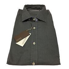 XACUS camicia uomo Vichy antracite 100 % cotone vestibilità slim