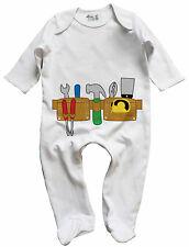 Dirty Fingers Baby Boy Sleep suit Gift Builder DIY Tool Belt Tools Hammer