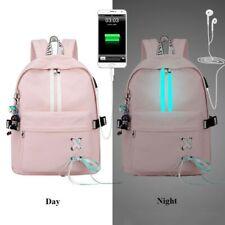 Anti Theft Reflective Waterproof Women Backpack USB Charge School Bags Girls