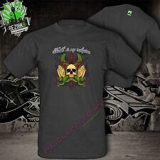 T-shirt chopper biker America Outlaw Faith is my religione God Dio Gesù credo