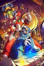 RGC Huge Poster - Mega Man X1 X2 X3 X4 X5 X & Zero Super Nintendo SNES - MMX005