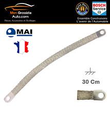 Tresse de masse / mise à la terre 30 cm oeil 11 mm Marque MAI